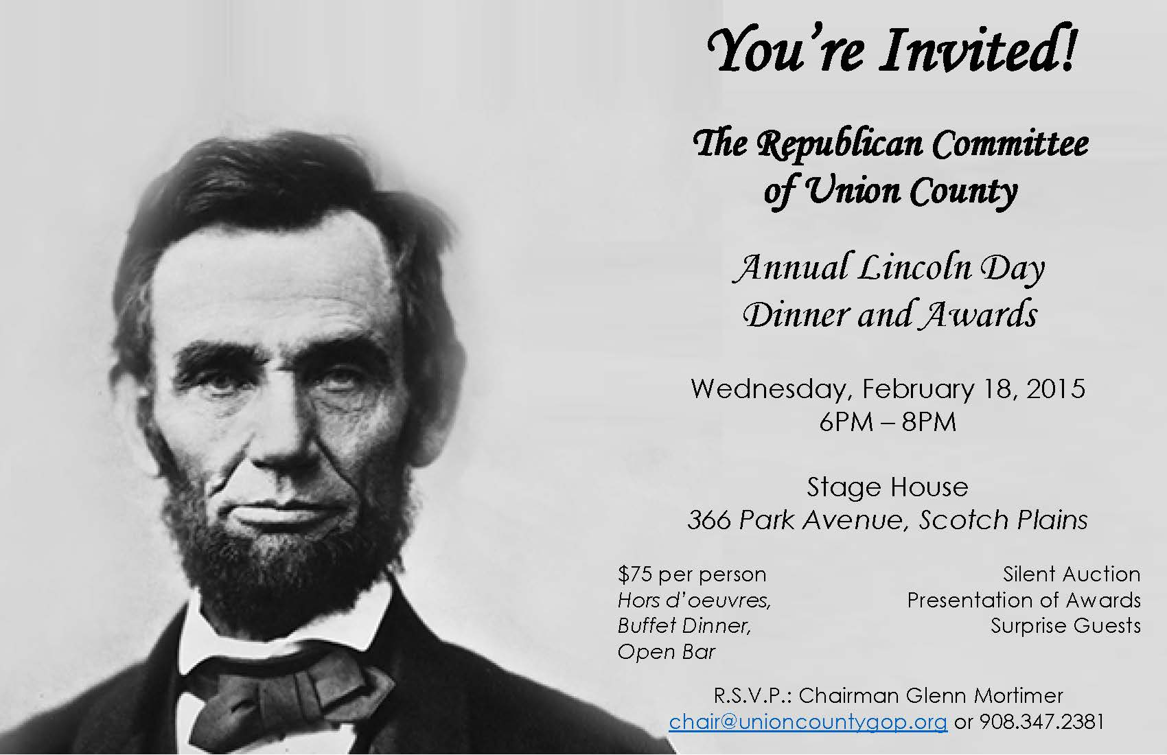 Republican Committee of Union County Annual Lincoln Day Dinner
