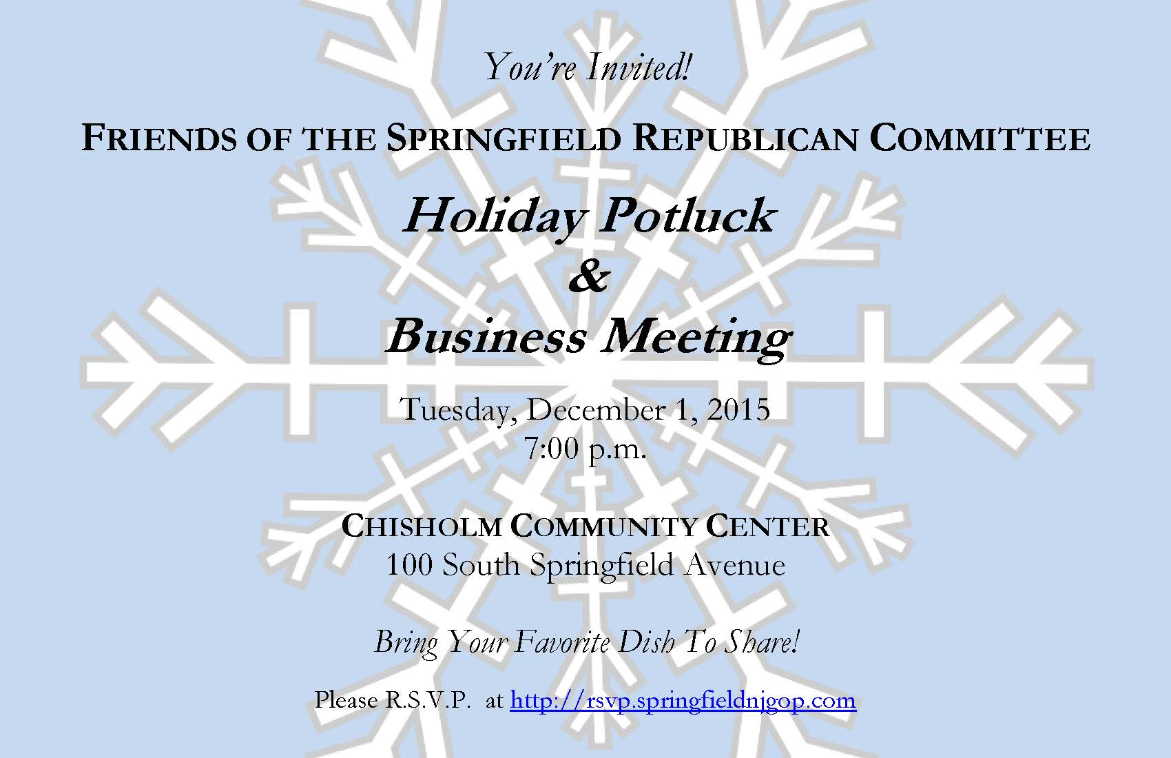 Holiday Potluck & Business Meeting